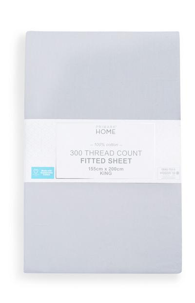 Sustainable Grey King Fitted Sheet