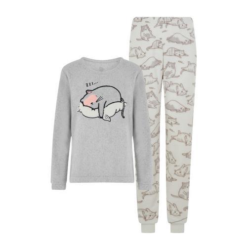 Pigiama grigio con gatto   Completi pigiama da donna   Pigiami da donna    Abbigliamento da donna   La nostra linea completa di abbigliamento da donna    Tutti i prodotti Primark   Primark Italia