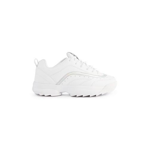 Luxus-Ästhetik elegantes und robustes Paket 2019 am besten verkaufen Weiße Sneaker mit dicker Sohle   Schuhe für Mädchen   Mädchen ...