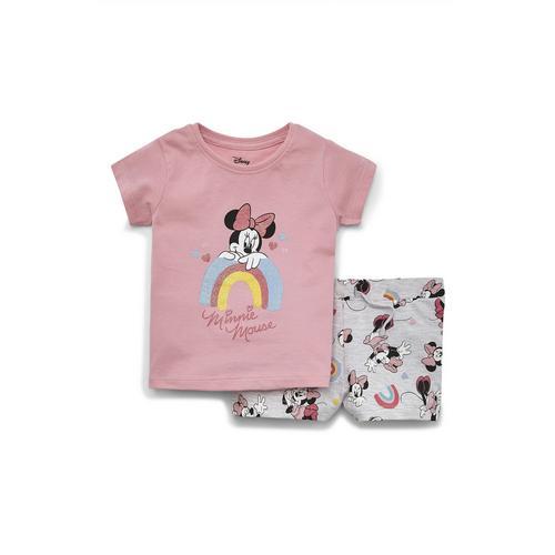 Conjunto De Camiseta Y Pantalones Cortos De Minnie Mouse De Disney Para Bebe Nina Moda Para Bebes Nina Moda Para Bebes Y Recien Nacidos Moda Para Ninos Todos
