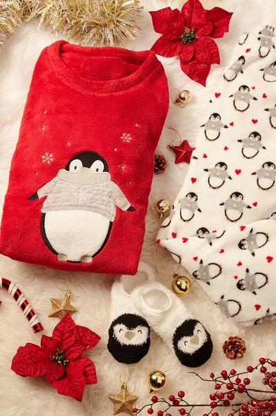 Caixa com pijama de Natal