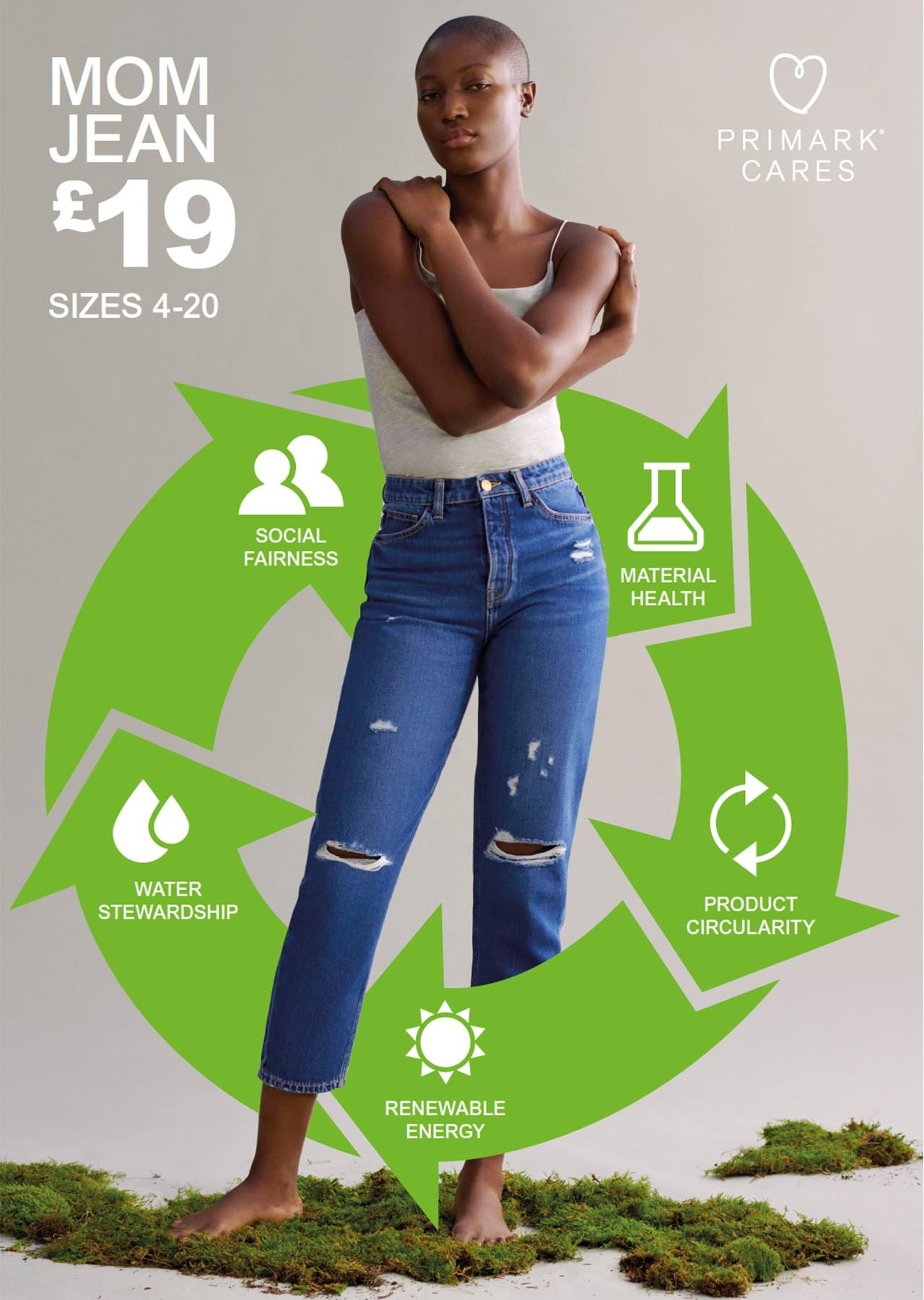 Primark's new 100% organic cotton mom jeans have achieved Cradle to Cradle Certified® at the Gold level