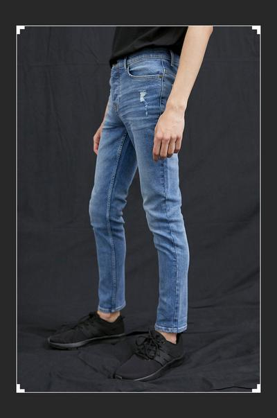 Model in sustainable cotton jean