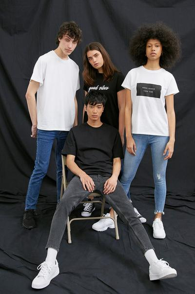 All models wearing sustainable cotton collection