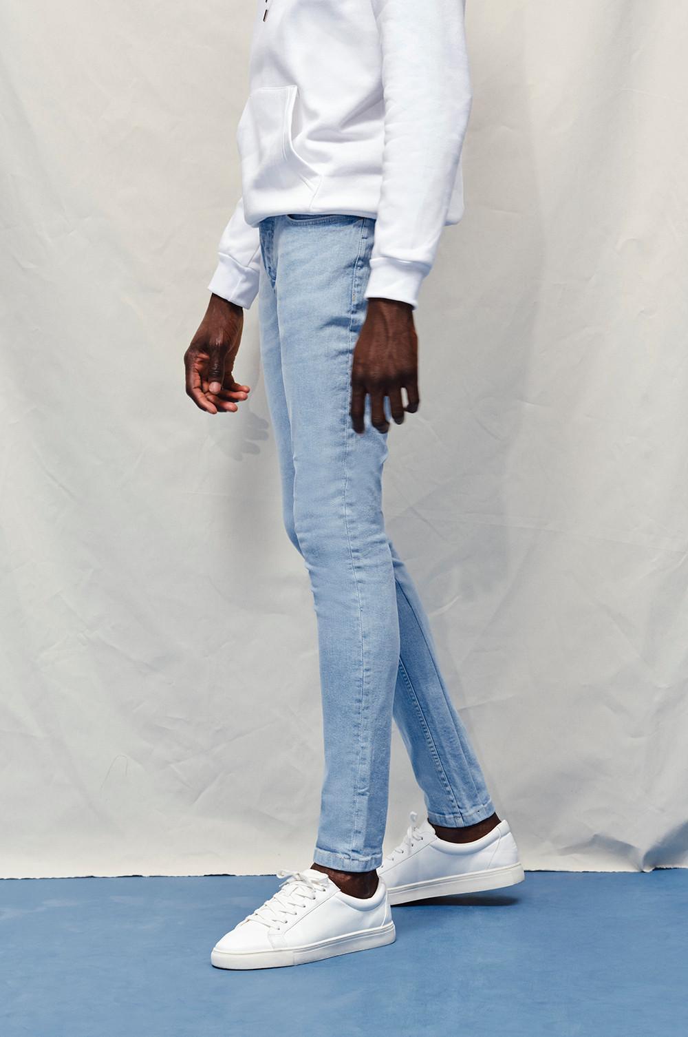 Model wearing The Skinny Jean