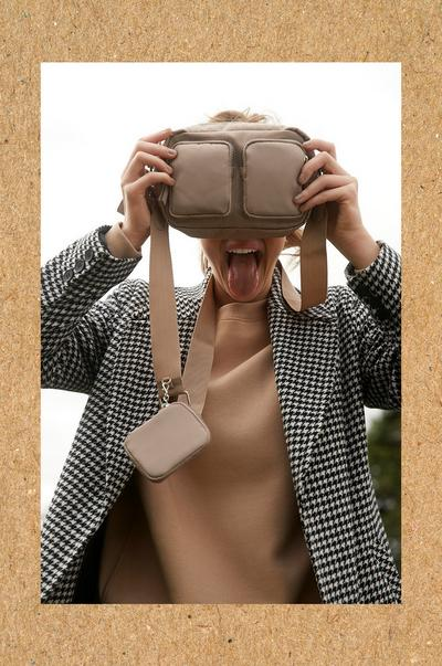 Model with bag over face