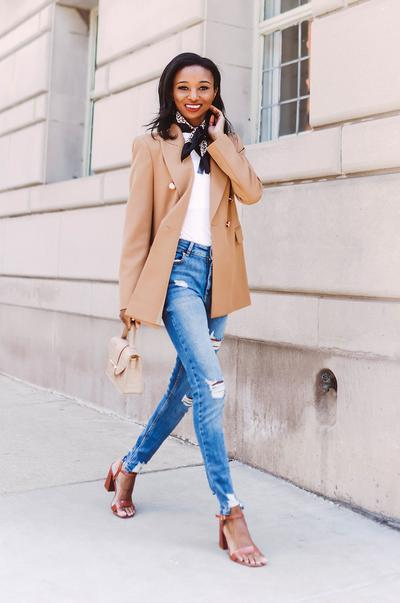 Classic Skinny Jeans and a Blazer
