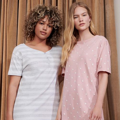 two women in primark sustainable pyjamas