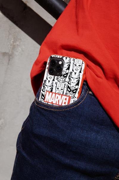 Coque de téléphone Marvel rouge et blanche