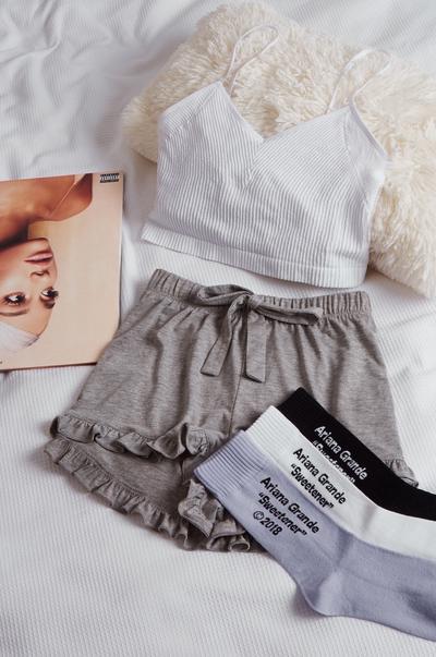 t-shirts, shorts and socks