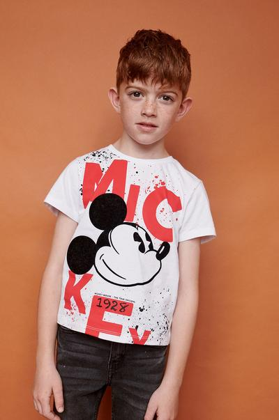 boy in Mickey T-shirt