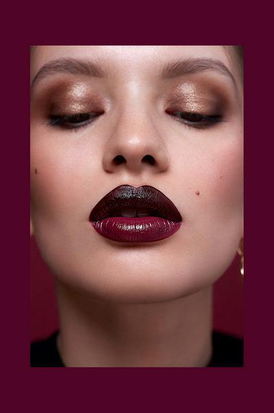Black cherry ombré lip