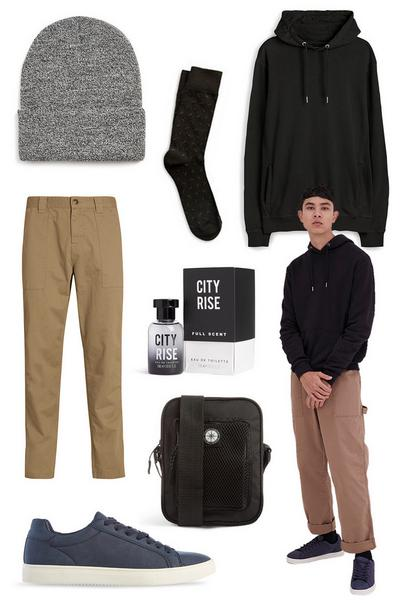 Mens cargo trousers moodboard