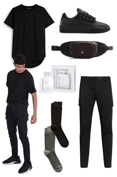 Collage mit Slim-Fit-Cargohosen