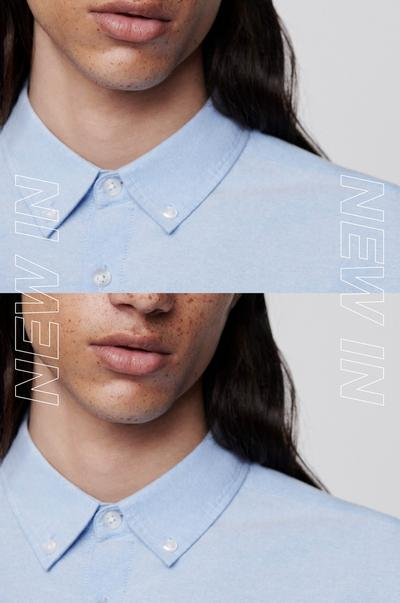 blue shirt collar