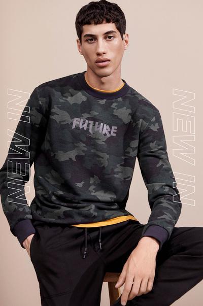 Model in Sweatshirt