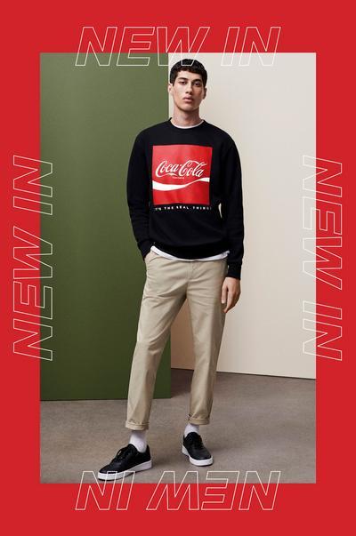 """Model in """"Coca Cola"""" Sweatshirt"""