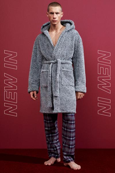 Male in gret dressing gown