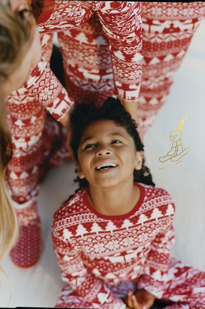 matchende kerstpyjama's