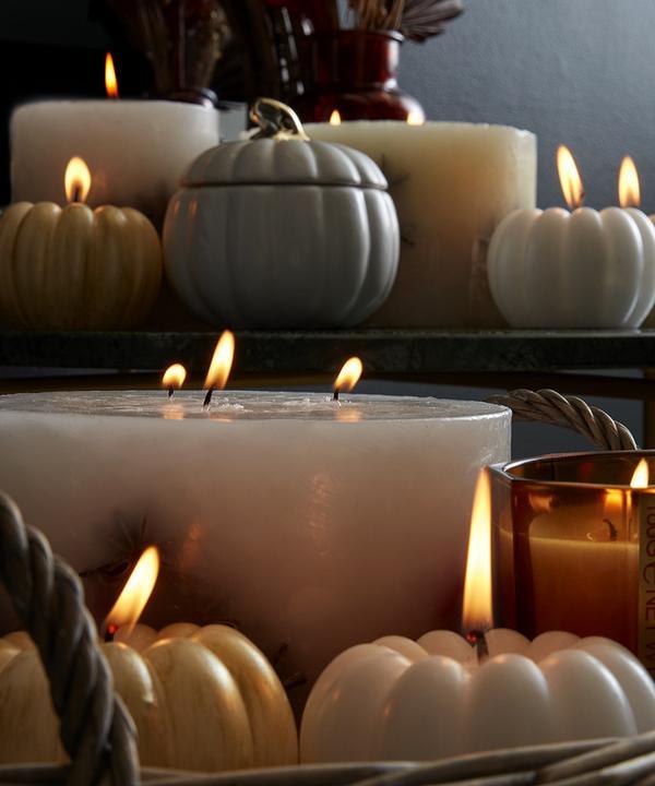 citrouilles et bougies