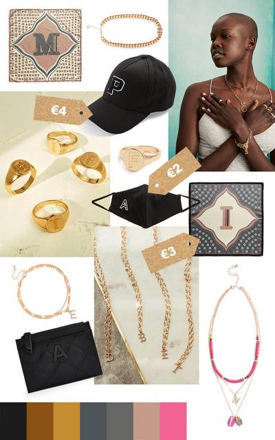 Initials products moodboard