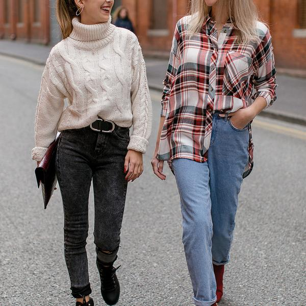 laura and pia wearing primark sustainable denim