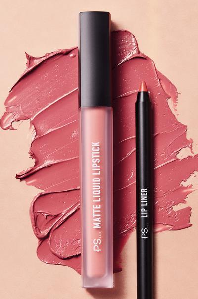 Lip liner and liquid lipstick