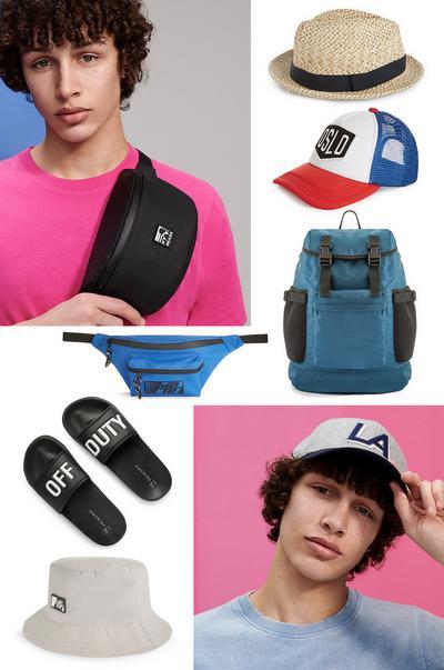 Men's accessories collage