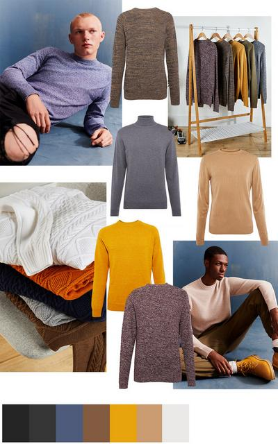 Mens knit collage