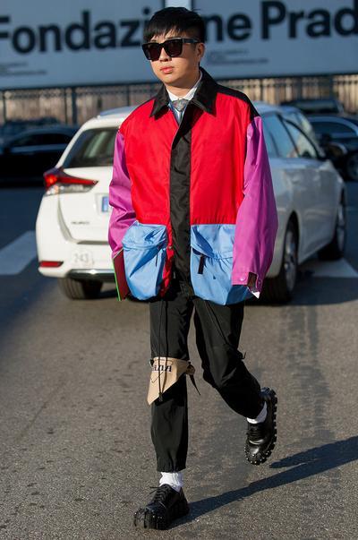 Visual 1 da semana da moda de Milão