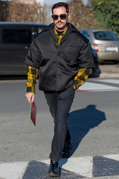 Visual 2 da semana da moda de Milão