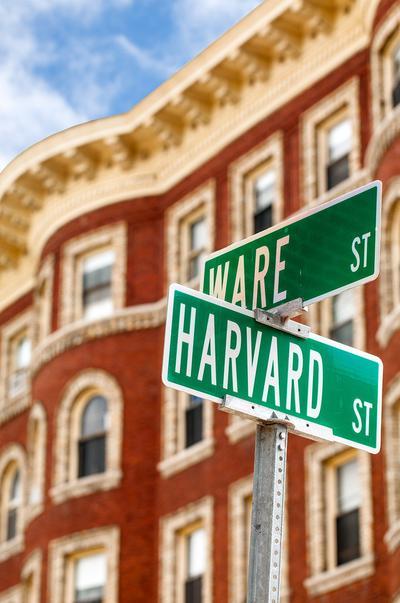 Harvard street sign
