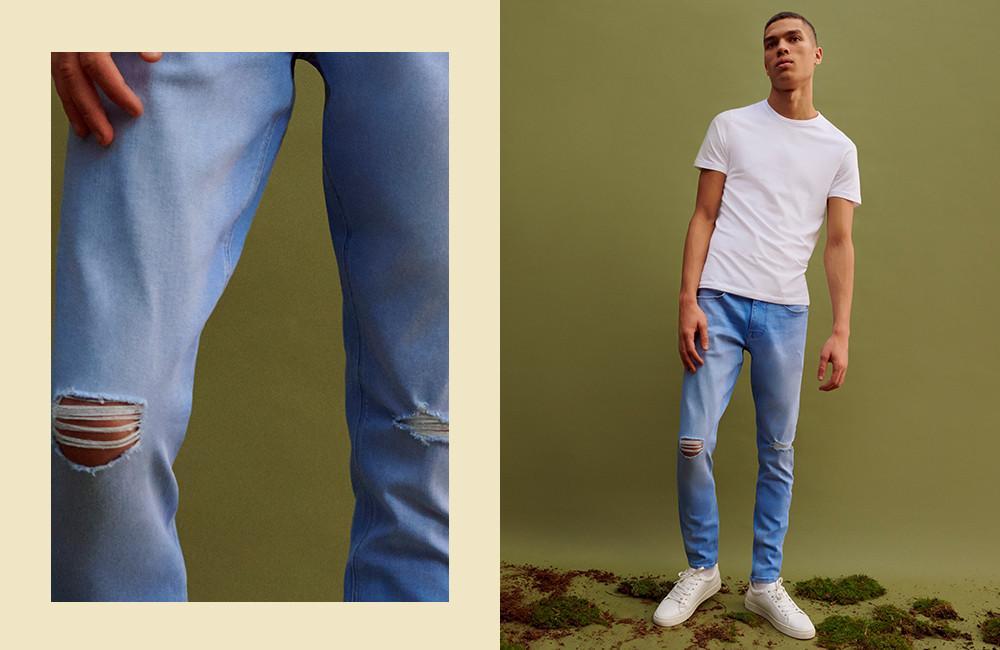 Le jean super skinny déchiré