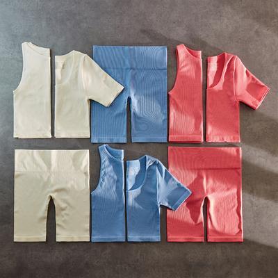 Flat lay image of seamless activewear sets
