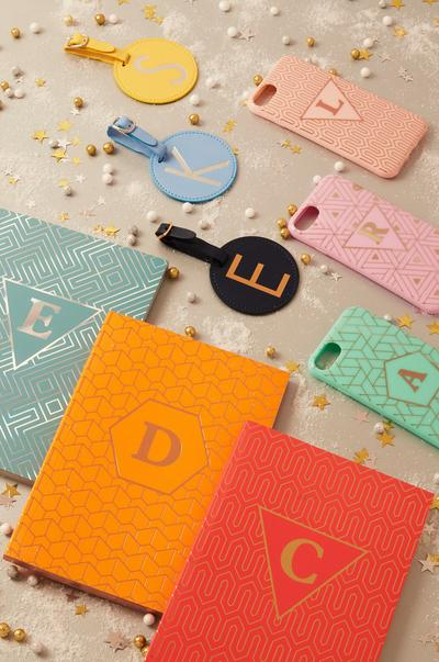 Primark's personalised initial notebook and accessories