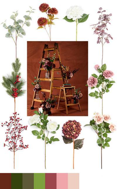 Single stems collage