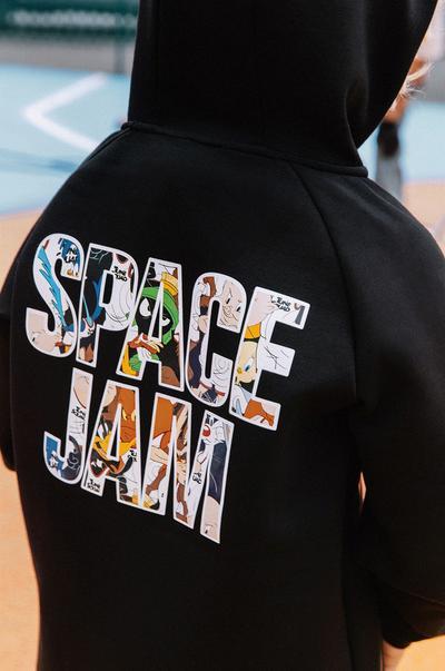 Model wearing Back Space Jam Hoodie