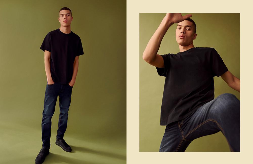Le jean à coupe droite