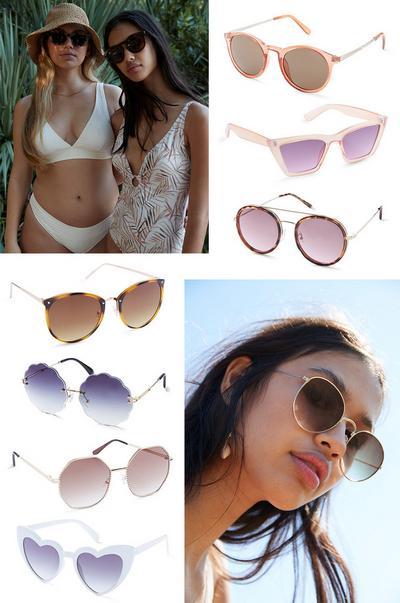 Sonnenbrillen-Collage
