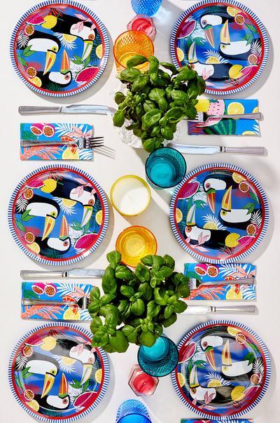 Tropische Tischdekoration