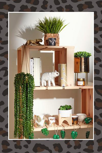 ornamentos e plantas artificiais