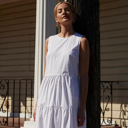 Witte jurk afbeeldingsfragment
