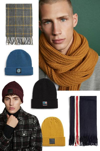Warme winteraccessoires heren