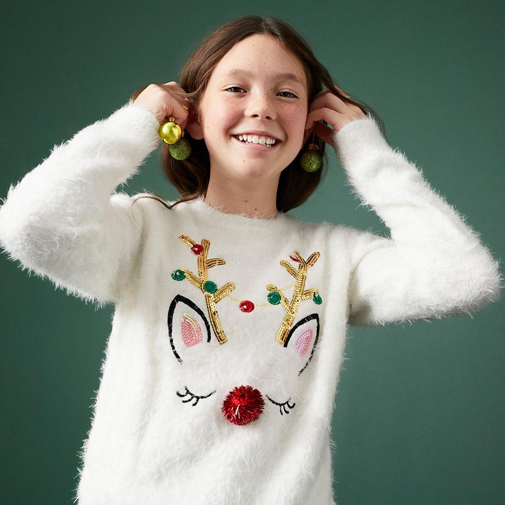 Ladies Christmas Jumper Women Xmas Top Slip On Cardigan SizeS//L Primark BrandNew