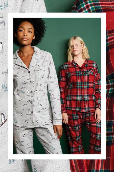 brushed flannel pyjamas