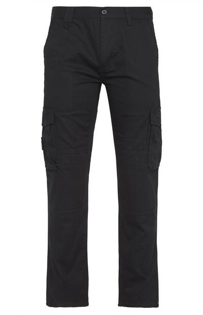 Black Worker Cargo Trousers