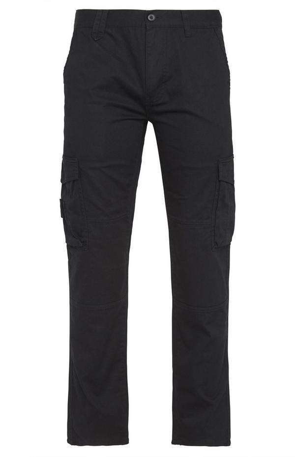 Black Worker Cargo Trousers
