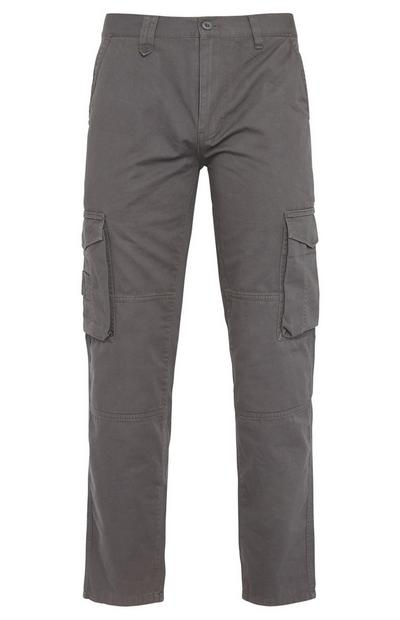 Grey Worker Cargo Trousers