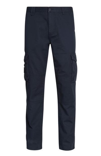 Pantalon cargo bleu marine
