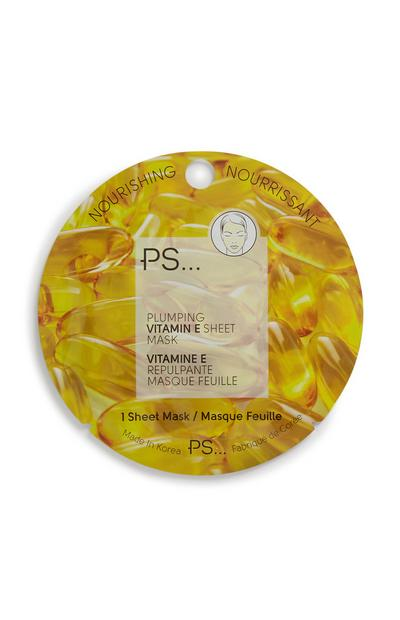 Máscara tecido vitamina E